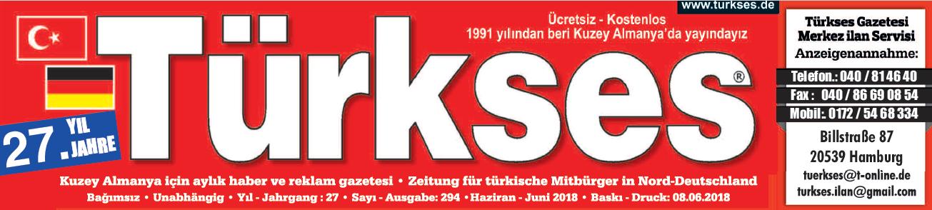 Türkses – Kuzey Almanya için Aylık Türkçe Haber ve Reklam Gazetesi